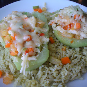 Filled Chipotle Flavored Chayote Squash