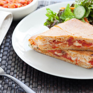 Pizza Panini with Red-Leaf Salad
