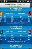 Screenshot of AFL Live Scores