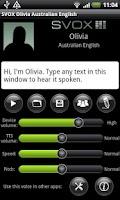 Screenshot of SVOX AU English Olivia Trial