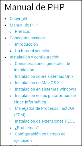 Manual PHP offline en español