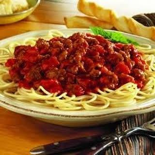 Speedy Spaghetti Dinner.