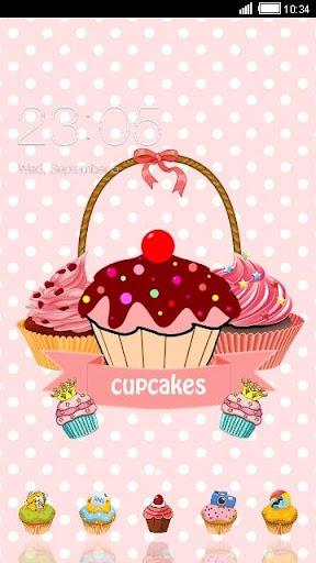 Pink Cupcake Sweet Cake Theme