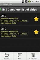 Screenshot of Schedule SMS Pro