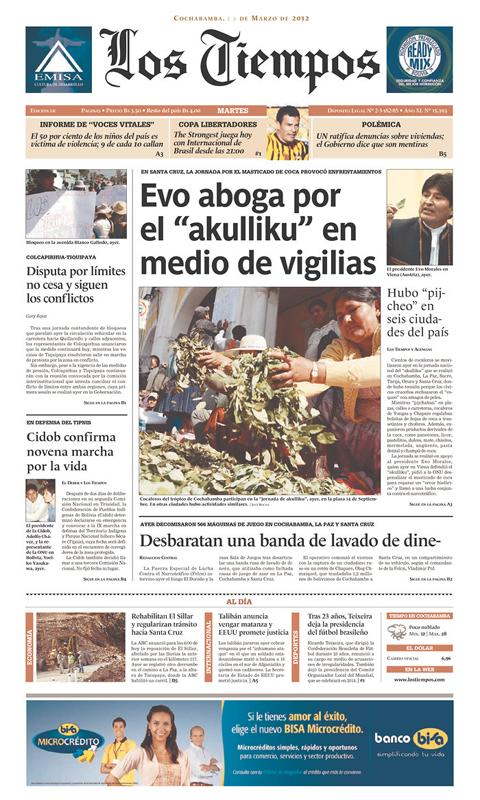 Bolivia Newspaper - screenshot