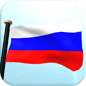 Russia Flag 3D Live Wallpaper