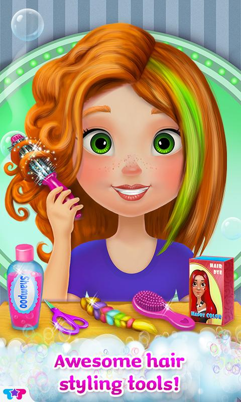 Awesome Crazy Hair Salon Girl Makeover Android Apps On Google Play Hairstyle Inspiration Daily Dogsangcom