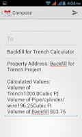 Screenshot of Backfill Trench Calculator