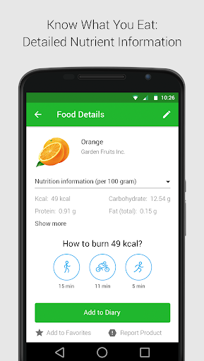 Calorie, Carb & Fat Counter  screenshots 2