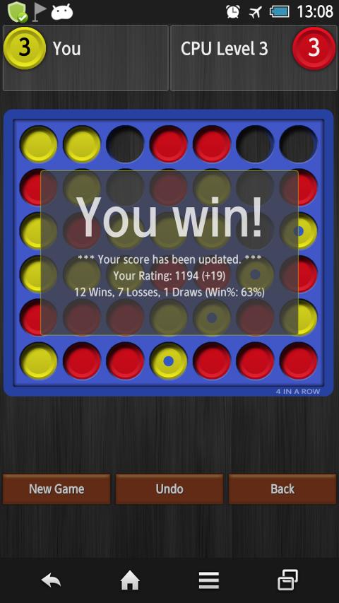 4 in a Row - screenshot