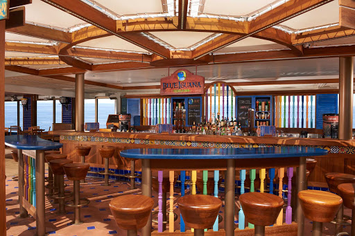 Carnival-Liberty-BlueIguana-Tequila-Bar - Order a slushy tequila drink or ice-cold Mexican cerveza at the colorful BlueIguana Tequila Bar, a slice of Mexican paradise next to Carnival Liberty's pool.