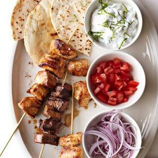 Quick Kabob Pita Sandwiches with Tzatziki.