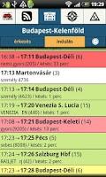 Screenshot of vonatDroid