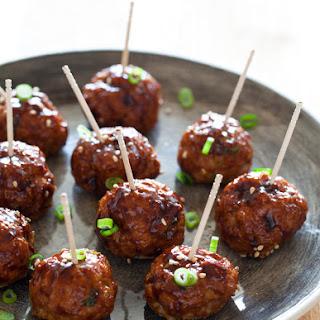 Korean Style Cocktail Meatballs.