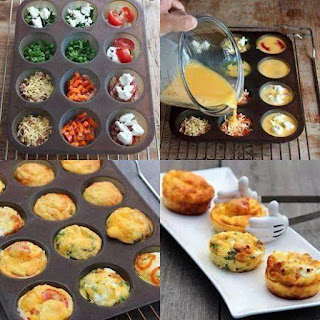 Egg in Muffin Tins - tiny omelettes