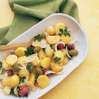 Potato Salad with Cipollini Onions, Olives, and Fennel