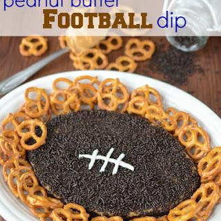 Peanut Butter Football Dip.