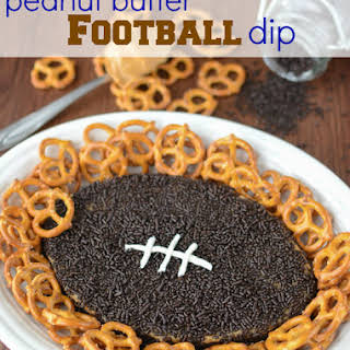 Peanut Butter Football Dip.