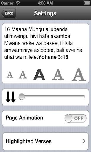 Bible in Swahili Free  screenshots 5