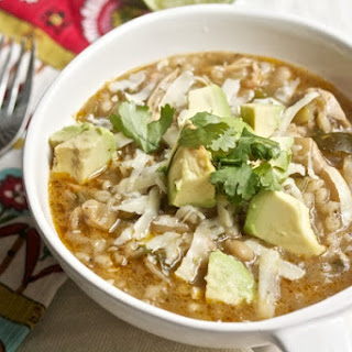 Healthy Chicken Chili with Barley.
