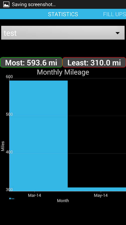 Gas Mileage Journal - screenshot