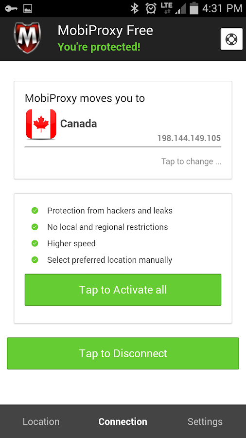 Mobiproxy - Free VPN Proxy- screenshot