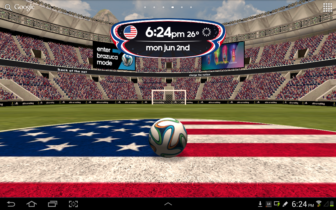 adidas 2014 FIFA World Cup LWP - screenshot