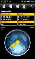 Screenshot of Columbus (geo,open)caching app