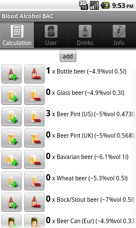 Blood Alcohol BAC- screenshot