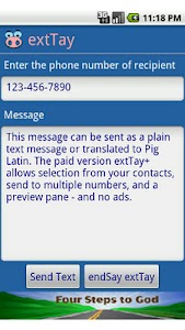 extTay - Pig Latin for SMS screenshot 0
