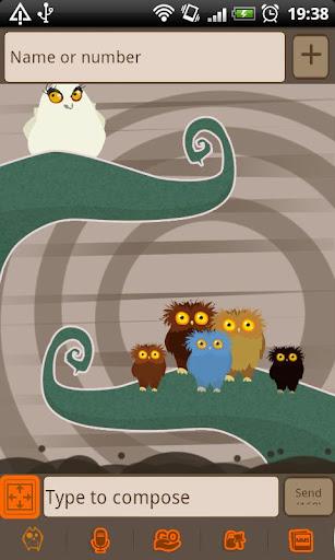 個人化必備APP下載|GO SMS Pro Owl Theme 好玩app不花錢|綠色工廠好玩App