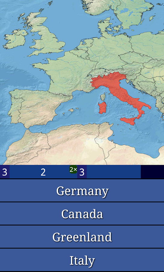 Geography Master Quiz - screenshot