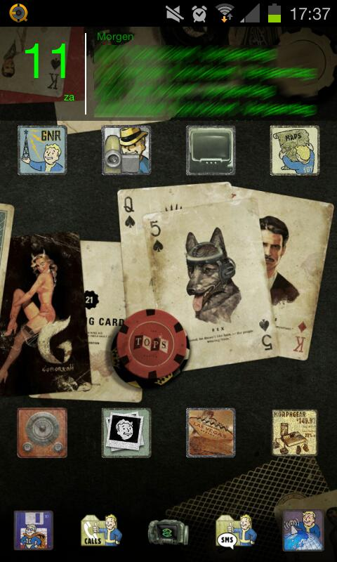 Fallout Theme Go Launcher Ex - screenshot
