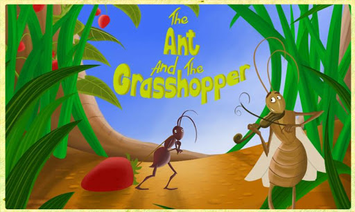Ant and Grasshopper Storybook