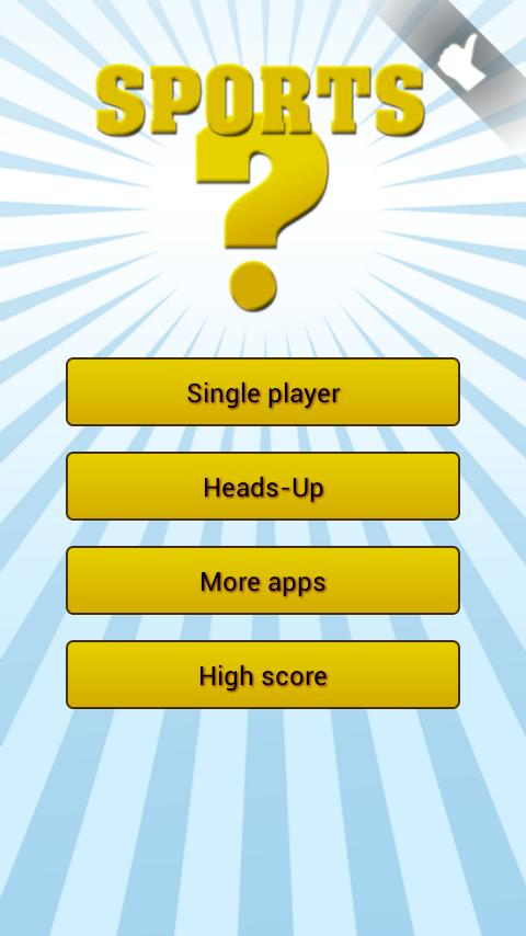 Sports quiz | 1 + 2 players - screenshot
