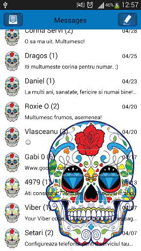 GO短信加强版直径德Muertos