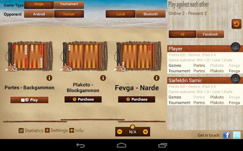 iTavli-Three Backgammon games - screenshot thumbnail