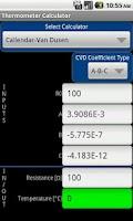 Screenshot of Thermometer Calculator