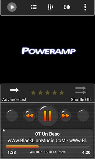 Poweramp Skin Dark Minimal