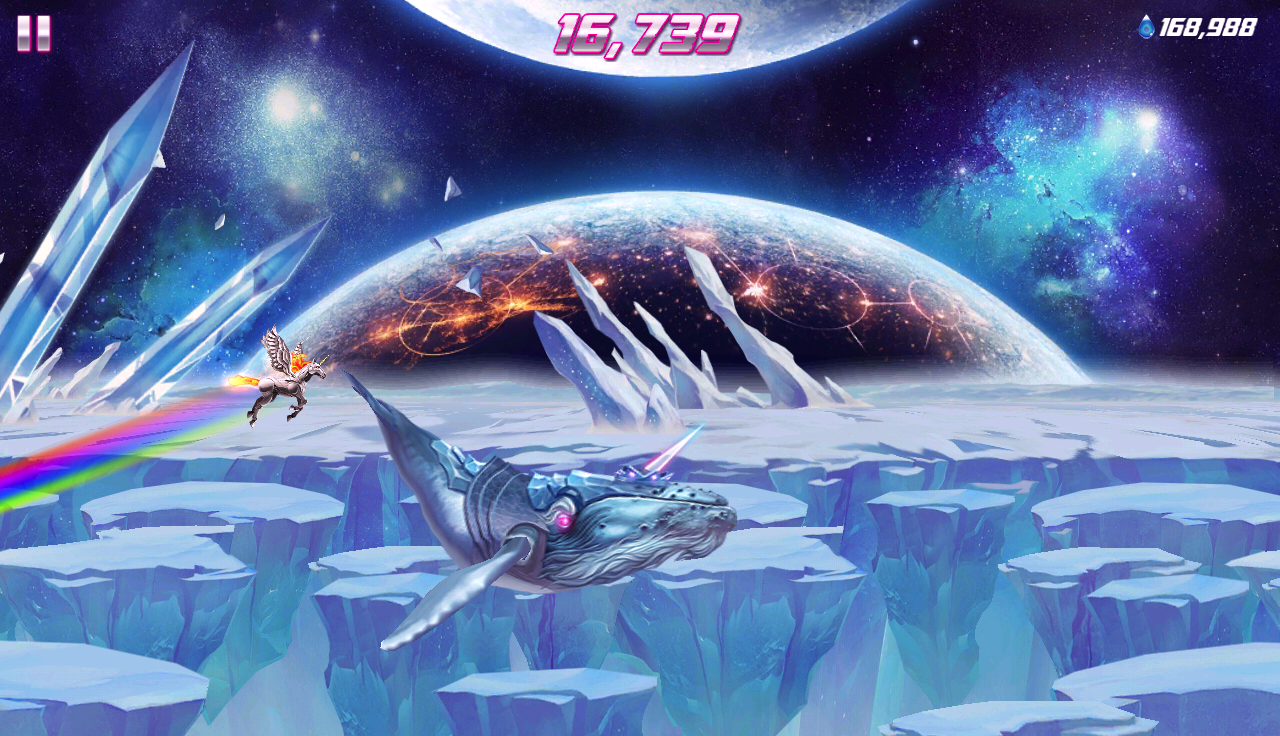 Robot Unicorn Attack 2- screenshot