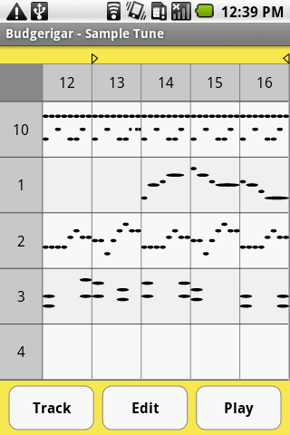 Budgerigar - Midi Sequencer - screenshot