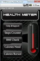 Screenshot of Health Meter