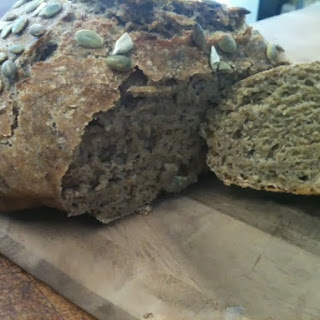 Savory No-knead Pumpkin Bread