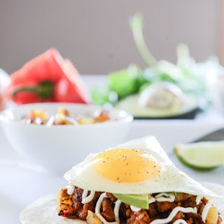 Chorizo and Fried Egg Breakfast Tacos