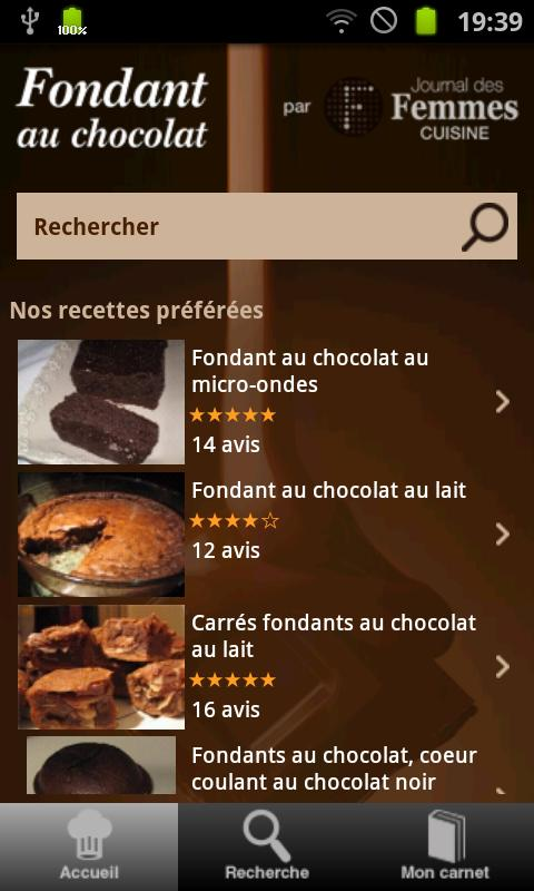Fondant au chocolat - screenshot