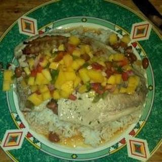 Grilled Tilapia and Mango Salsa.