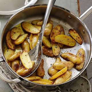 Fingerling Potatoes with Pesto.