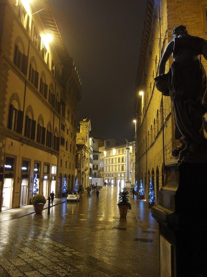 Firenze by night by Pipia Kanjeva - City,  Street & Park  Street Scenes ( #firenze #florence #italy #street #art #night, , city, night, city at night, street at night, park at night, nightlife, night life, nighttime in the city )