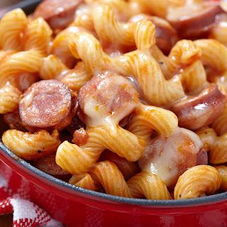 Smoked Sausage & Tomato Spirali.