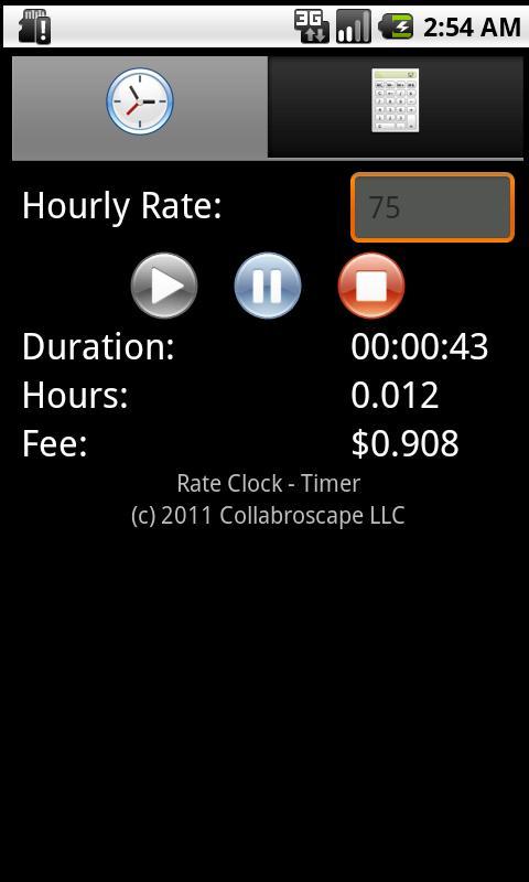 Rate Clock- screenshot